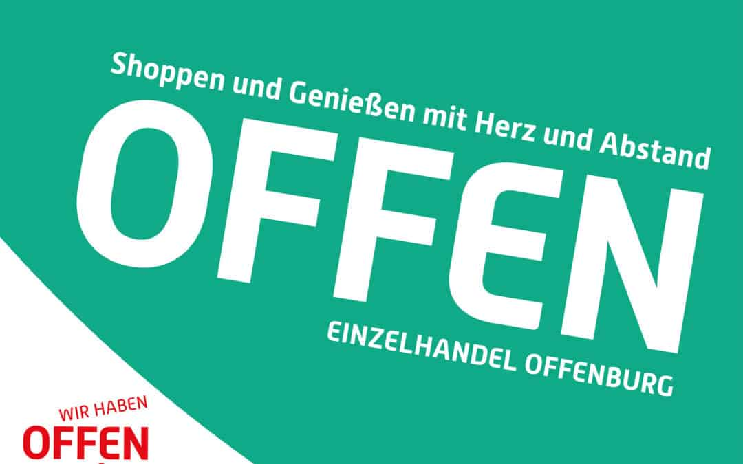 Geschäfte in der Offenburger Innenstadt öffnen wieder!